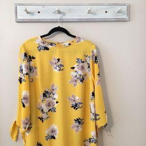 Ava & Viv Yellow Floral Dress